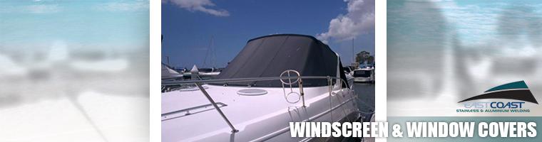 Custom marine windscreen and window covers Gold Coast